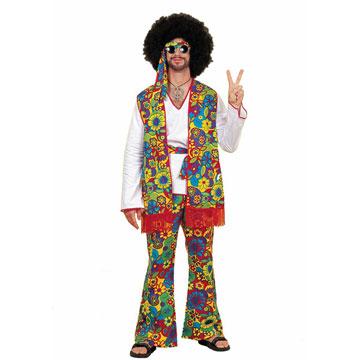 Costume hippie grovy homme XXL