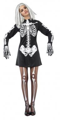 Deguisement de squelette femme
