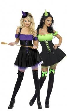 Déguisements de couple de sorcières sexy femmes