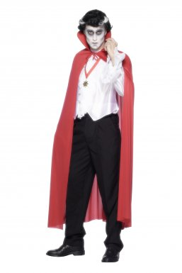 Cape de Dracula rouge adulte
