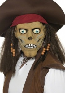 Masque de pirate zombie