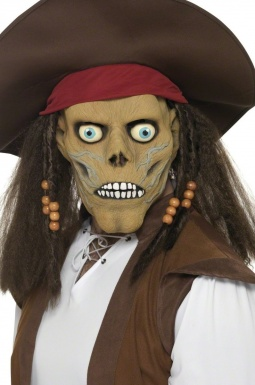 Masque zombie pirate kit masque chapeau perruque zombie - Maquillage pirate homme ...